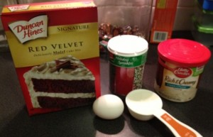 Red Velvet Brownies Recipe - Made from Duncan Hines cake mix. So simple and easy you have to give it a try.