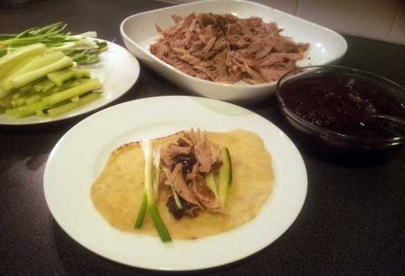 Crispy Peking Duck Recipe - I decided to give this a try after seeing whole duck in the Aldi flyer.