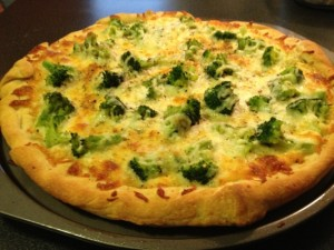 Broccoli Pizza Recipe - Made with Pillsbury Ready made Pizza crust to make it quick, easy and tasty.