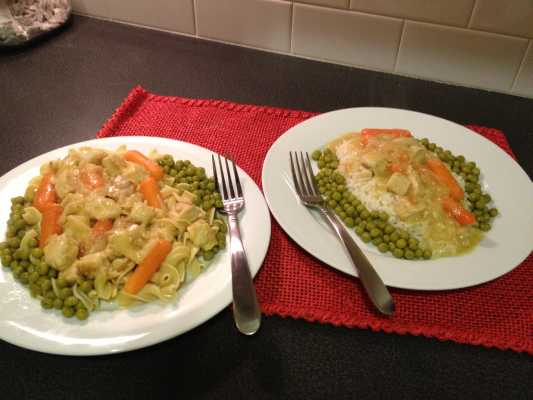 Chicken and Carrots Recipe - With a sauce of butter and chicken bouillon great over rice or egg noodles.