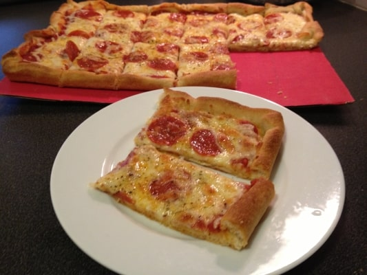 Pepperoni Pizza Recipe - Made with Pillsbury Thin Crust Pizza Crust to keep this quick and easy.