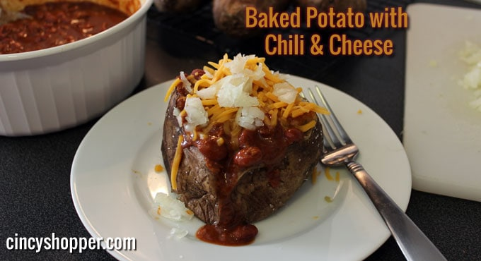 Meals on a Budget Recipe: Baked Potato with Chili & Cheese