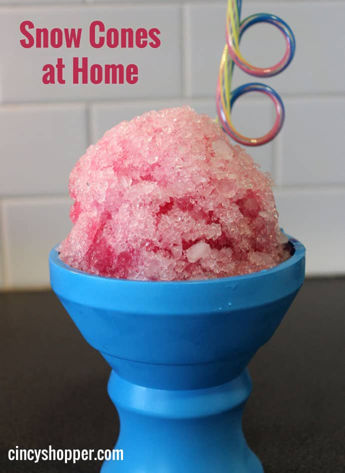 Snow Cones at Home - A food processor, some ice and juice concentrates can make a fun healthy snack.