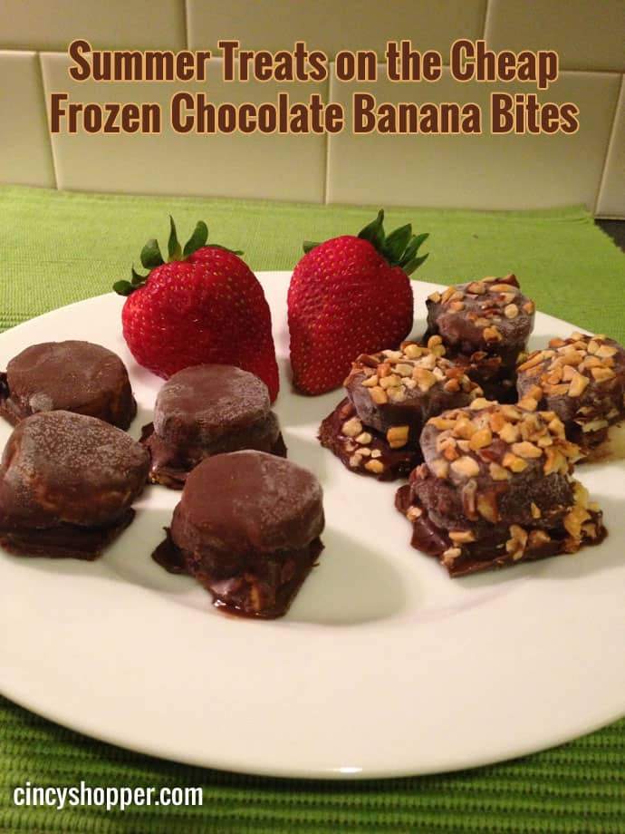 Summer Treats on the Cheap Frozen Chocolate Banana Bites