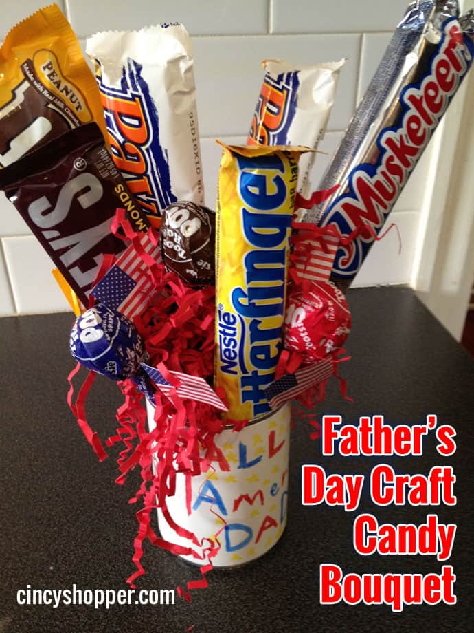 Father's Day Craft Candy Bouquet On The Cheap