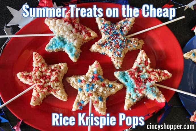 Summer Treats on the Cheap Rice Krispie Pops