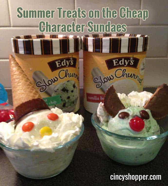 Summer Treats on the Cheap Character Sundaes