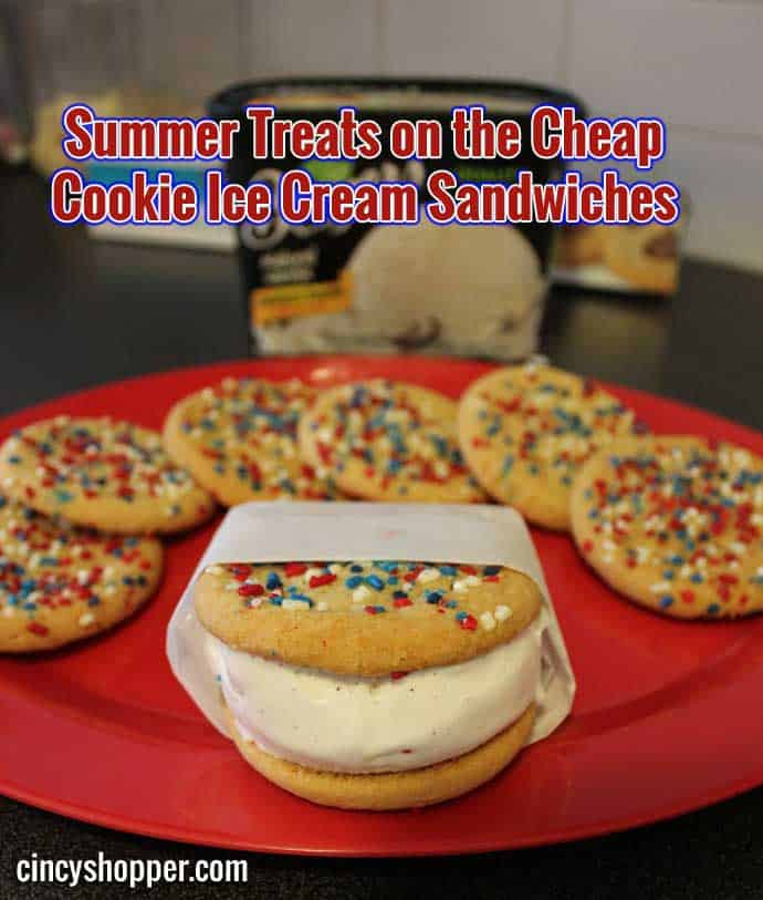 Summer Treats on the Cheap Cookie Ice Cream Sandwiches
