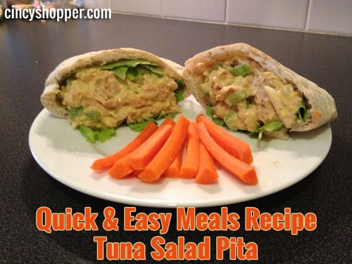 Quick and Easy Meals Recipe Tuna Salad Pita