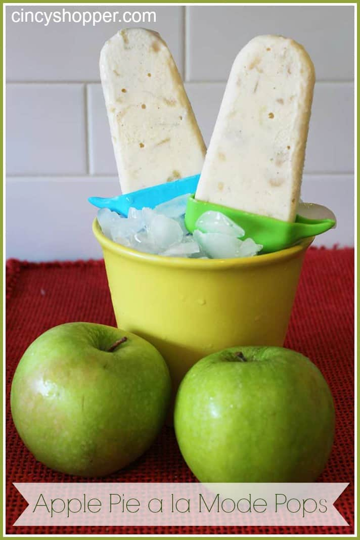 Apple Pie a la Mode Pops