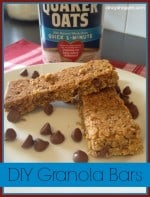 DIY Chocolate Chip Granola Bars Recipe