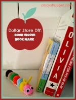 Dollar Store DIY Craft Bookworm Bookmark