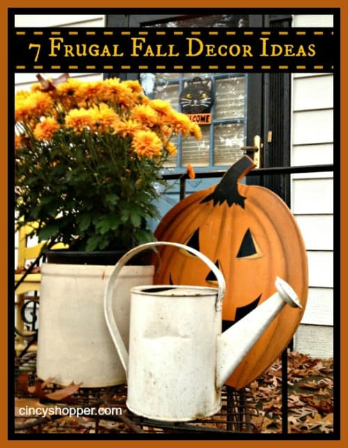 Frugal Fall Decor Ideas