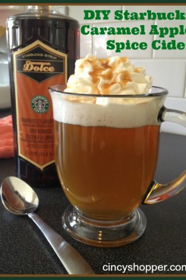 DIY Starbucks Caramel Apple Spice Cider