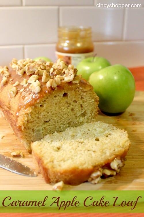 Caramel Apple Cake Loaf