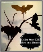 Dollar Store DIY Bats on a Branch