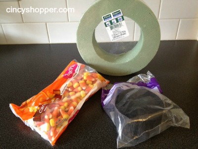 Candy Corn Wreath Supplies