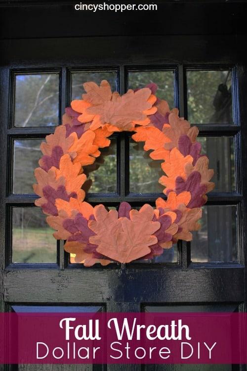 Dollar Store DIY Fall Wreath
