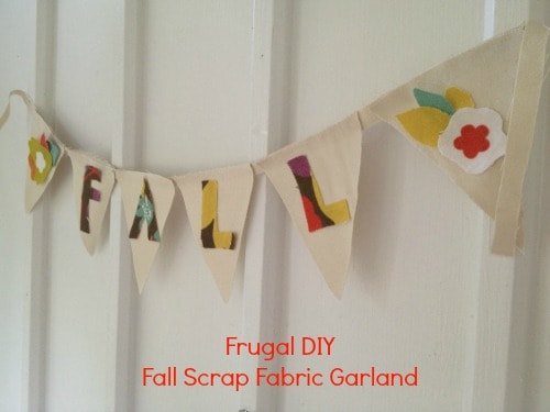 Frugal DIY: Fall Scrap Fabric Garland