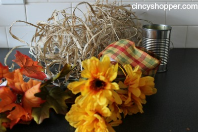 Dollar Store DIY Fall Rafi Vase Supplies