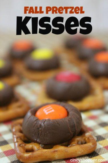 Fall Pretzel Kisses