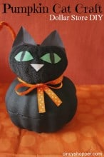 Dollar Store DIY Pumpkin Cat Craft