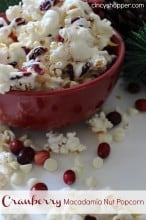 Cranberry Macadamia Nut Popcorn