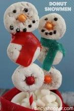 Donut Snowman Pops