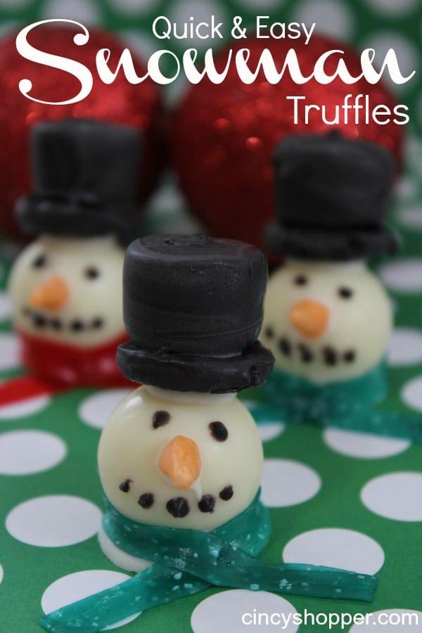 Snowman Treats Truffles