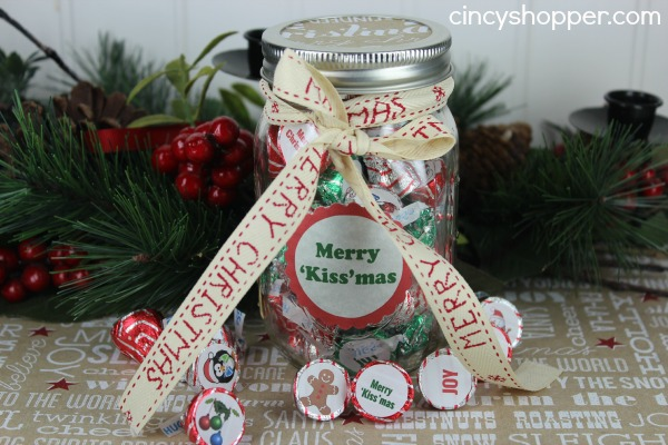 Hershey's Kiss Jar Gift with FREE Printable Labels - CincyShopper