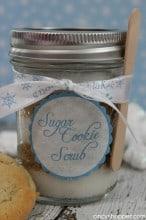 DIY Sugar Cookie Scrub with FREE Printable Label