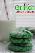 The Grinch Crinkle Cookies