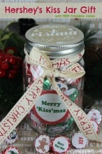 Hershey's Kiss Jar Gift with FREE Printable Labels