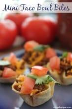 Mini Taco Bowl Bites