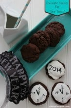Chocolate New Years Cookies