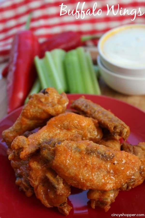 No Fry Buffalo Wings - Crispy Buffalo Wings without frying. Great for feeding a crowd.