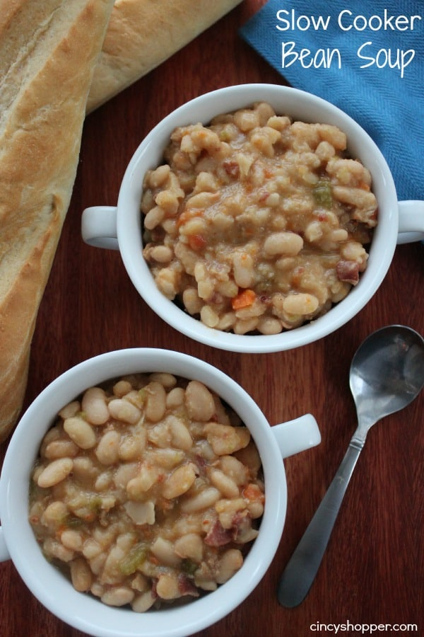 Slow Cooker Bean Soup - Perfect for fall. Traditional recipe made right in your Crock-Pot!