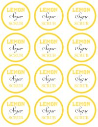 picture relating to Printable Sugar Scrub Labels titled Do-it-yourself Items Lemon Sugar Scrub within a Jar with Cost-free Printable