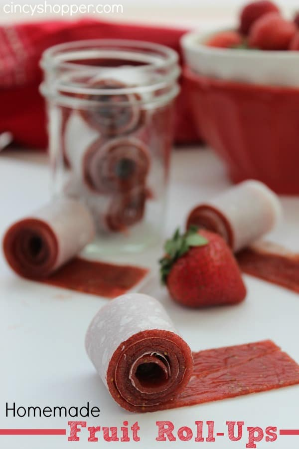 sugar content in fruit homemade fruit roll ups