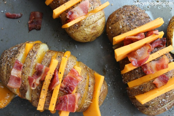 Sliced Baked Potatoes With Cheese