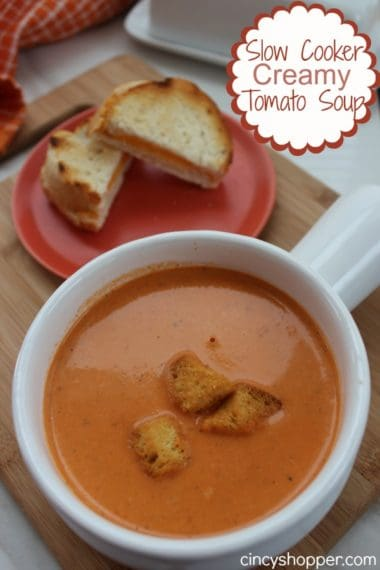 Slow Cooker Creamy Tomato Soup