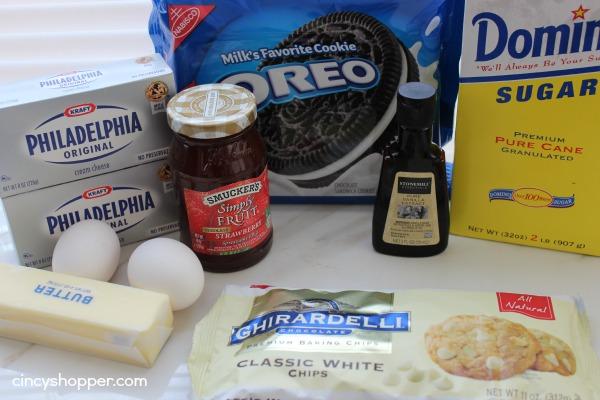 Strawberry White Chocolate Cheesecake Bars- make for a great Valentine's Day dessert.