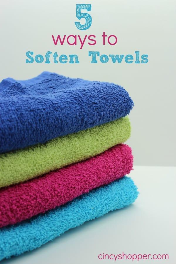 5 ways to soften towels cincyshopper. Black Bedroom Furniture Sets. Home Design Ideas