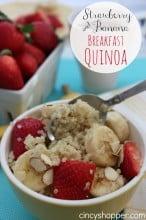 Strawberry and Banana Breakfast Quinoa