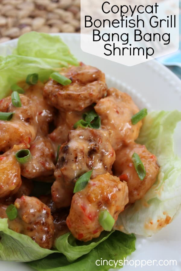 CopyCat Bonefish Bang Bang Shrimp- Yes, you can make it at home. Fried shrimp with a kicking sauce….yum!
