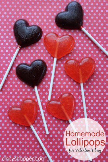 Homemade Lollipops for Valentine's Day