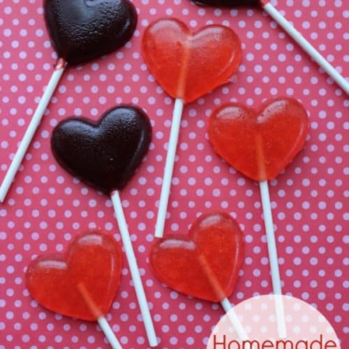 Homemade Lollipops for Valentine's Day