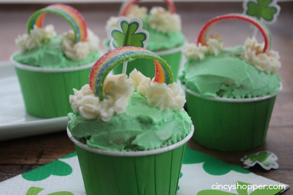 Rainbow Cupcakes for St Patty's Day
