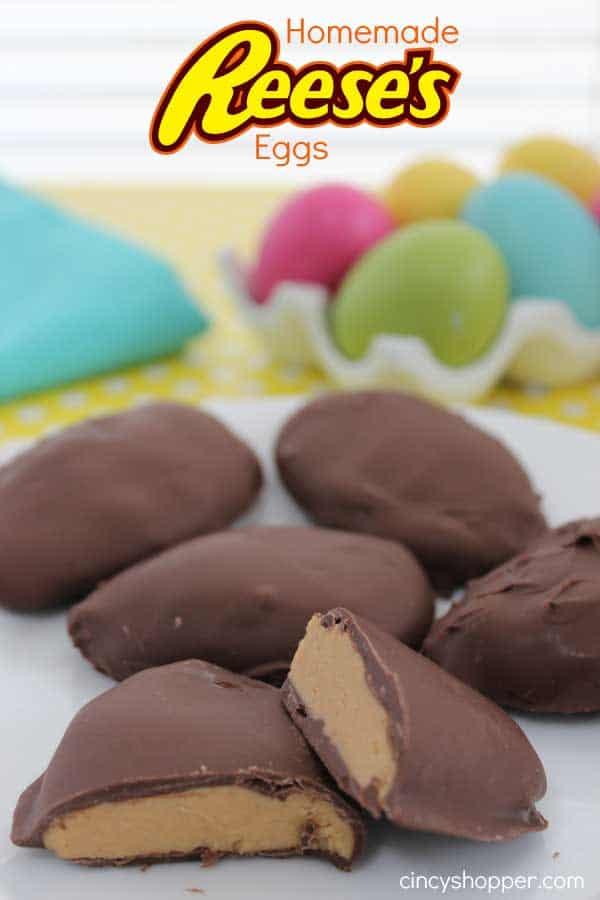 Homemade Reese's Eggs- Super simple to make at home. A Easter candy favorite. Plus they make for a great addition to Easter baskets.