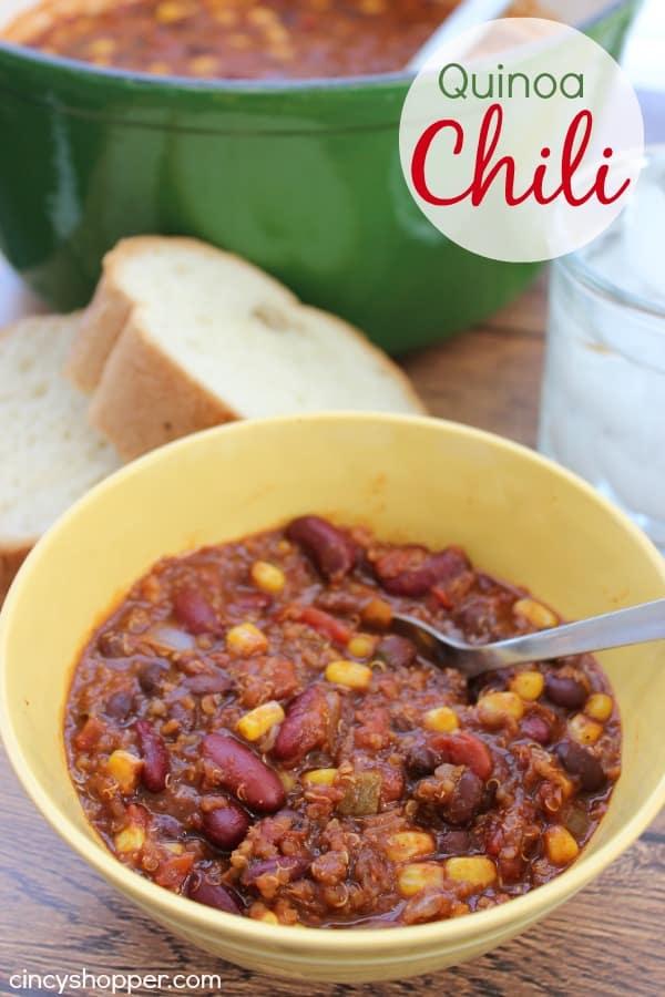 Quinoa Chili Recipe - CincyShopper